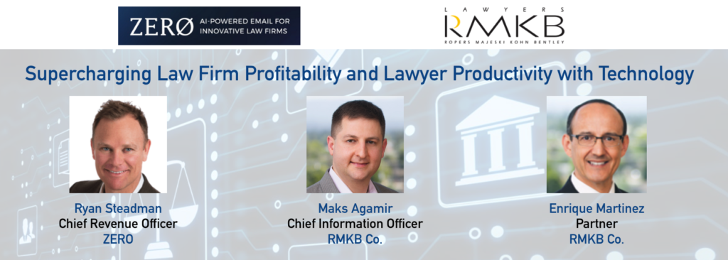 Supercharging Law Firm Profitability and Lawyer Productivity with Technology