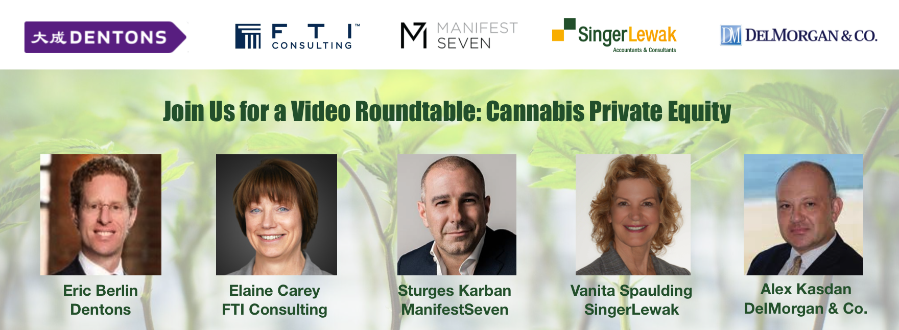 Cannabis Private Equity Panel on Expert Webcast