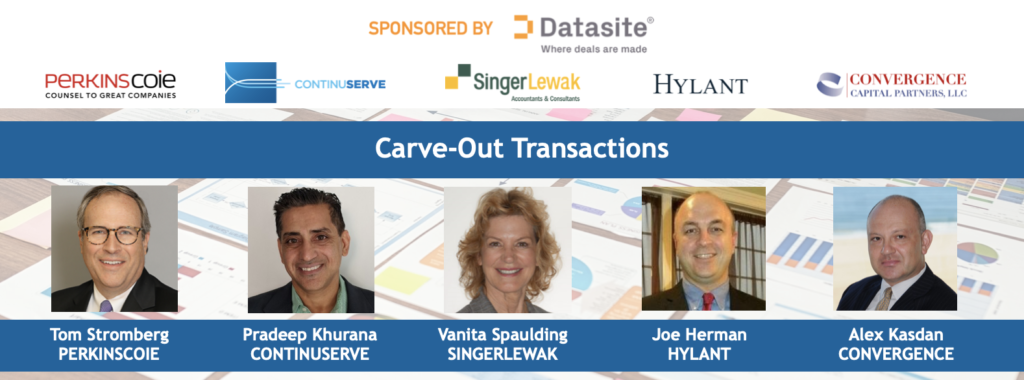 Expert Webcast Roundtable October 2020 Carve-Out Transactions